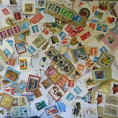 1 Kilo of Used Charity Collected Kiloware stamps mixed UK Foreign on Paper 1000g