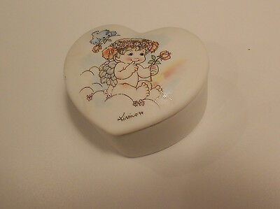 "Dreamsicles Heart Trinket Box 1994 Issue Vg+ 2 3/4"" X 2 1/2"" X 1 1/2"""
