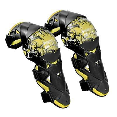 Motorcycle Knee Pads Protector Guards Armor Motocross Kneepad Gear Yellow