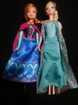 Disney Frozen Anna And Elsa Barbie Dolls Princess Queen around 11 in