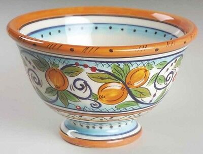 3 Villa Paradiso by Dario Farrucci Tabletops Unlimited Hand Painted Footed Bowls