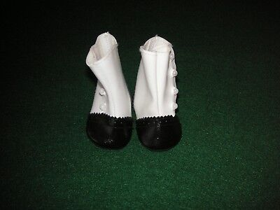 American Girl Samantha's Black and White High Button Shoes. GUC. Retired
