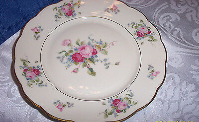 ROYAL BAYREUTH BAVARIA ROB#384 SALAD PLATE w/ROSES & GOLD ACCENT TRIM