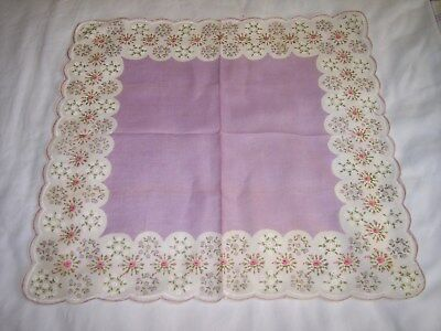 Large Hanky Purple And Pink Flowers