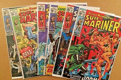 Sub-Mariner Silver & Bronze-Age Lot Of 6 Comics Lot 4