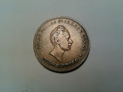 Rare Norway 1/2 Specie Daler 1849 coin