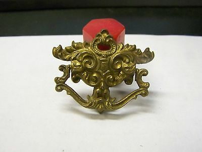 1 Antique-Vintage Solid Brass KEELER K260 Fancy Ornate-Swing Drawer Pull Handle
