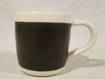 STARBUCKS 2009 Celebration Black White Chalkboard Coffee Mug Cup 18 fl oz RARE