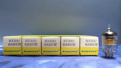 Amperex 5725 6AS6W Vacuum Tubes New Old Stock New in Box Lot of 8