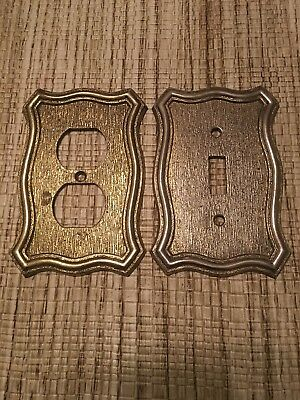 Vintage Set Of Two Amera Track Light switch / outlet covers!