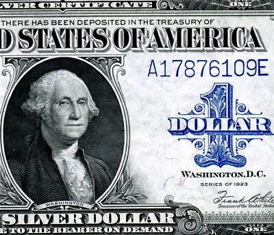 HGR FRIDAY 1923 $1 Woods/White ((1of2 Consecutive#)) AU - UNCIRCULATED