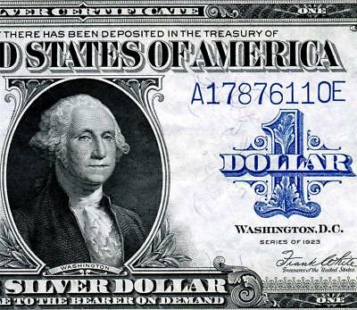 HGR FRIDAY 1923 $1 Woods/White ((2of2 Consecutive#)) AU - UNCIRCULATED