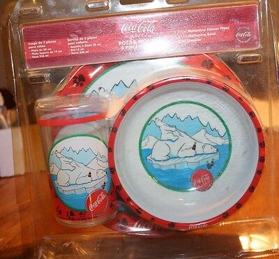New Coca Cola Polar Wonder Kids dish set