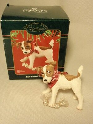 Carlton Cards Jack Russell Terrier Puppy Dog Ornament