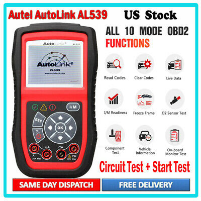 Autel AutoLink AL539 OBD2 Fault Code Reader Diagnostic Scanner Electrical Test