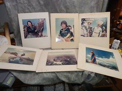 6 signed Color Photographs of NAVAJO by J. Donald McIntyre
