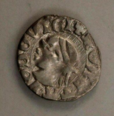 Hungary Denar 1342 - 1382  Silver Louis The Great Patriarchal Cross