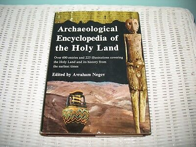 Avraham Negev ARCHAEOLOGICAL ENCYCLOPEDIA OF THE HOLY LAND   FREE SHIPPING
