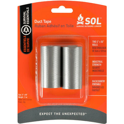 "Adventure Medical Kits SOL Industrial Strength Duct Tape - Two 2"" x 50"" Rolls"