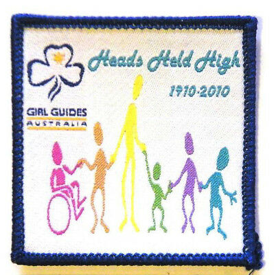 """Girl Guide Scout Brownie BADGE PATCH – new! ~ Australia Heads Held High 2.5"""""""