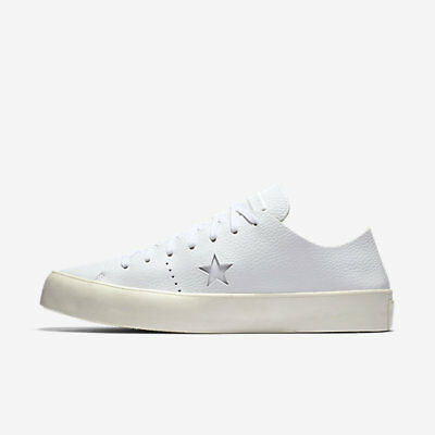 f8b16641e270 CONVERSE CONS ONE Star Prime Ox White Leather Low Shoes Sz 12 Mens ...