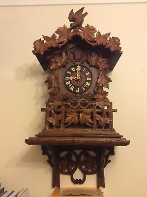 Large Antique Cuckoo Clock GHS Fusee With Shelf Fully Serviced c1908 Automaton
