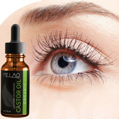 Organic Cold Pressed Castor Oil For Eyelashes Eyebrows Growth Body Care Make Up