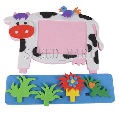 3D Baby Photo Frame Stickers Children's Best DIY Educational Toy Gift Cow & Bird
