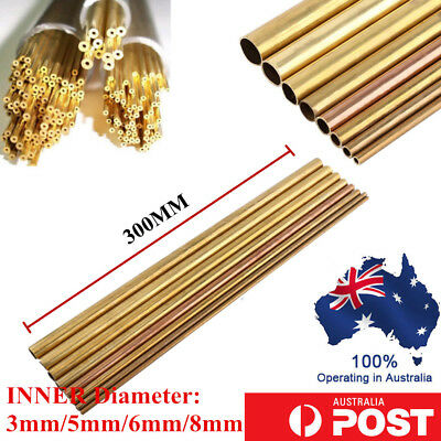 3/5/6/8 Dia Brass Round Bar Hardware Circular Tube Machining Rod Lathe Mill