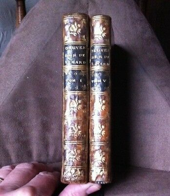 1749 OEUVRES DE MONSIEUR REMOND DE ST. MARD - VOL I & 5 - 1ST - FULL LEATHER vgc