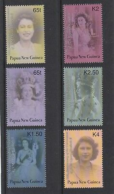 PAPUA NEW GUINEA  2003 50th Anniversary of QUEEN's Coronation set of 6 MNH