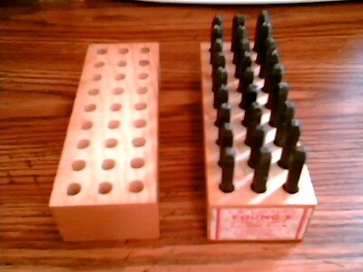 Young Bros Stamp Works 1/8 inch Steel Set 27 Letter Characters-MADE IN USA