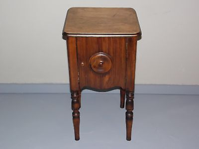 Antique Art Deco Walnut Smoking Stand Pipe Cigar Cabinet End Table Nightstand