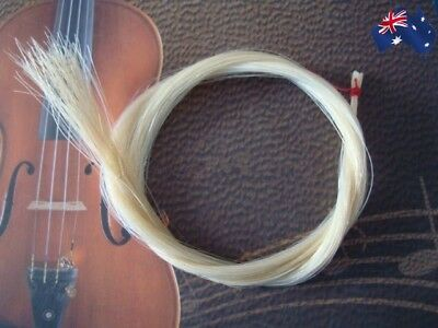 Violin Bow Hair Mongolian Horse Tail for Violin Bow Parts 78cm NEW