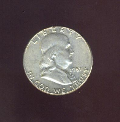 Scarcer Date Near Uncirculated 1951-P 90% Silver Franklin Half Dollar, Free Ship