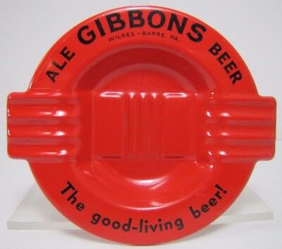 Old GIBBONS Ale Beer Ashtray tin metal liquor store bar advertising tray