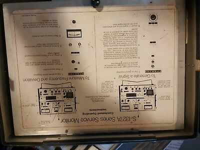 Vintage Motorola/Systron Donner Service Monitor S1327B with manual