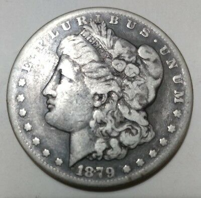 1879-S Morgan Silver Dollar Good Coin--With Free Shipping