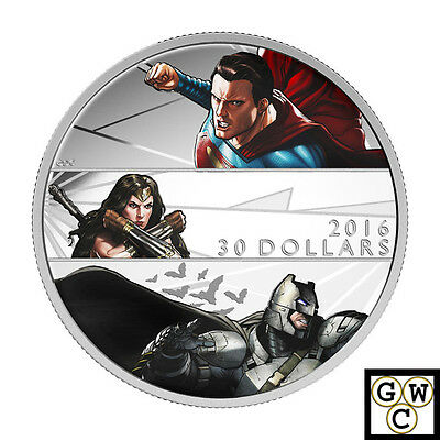 2016 Batman v Superman Dawn of Justice™ Colorized Proof $30 Silver Coin (17614)