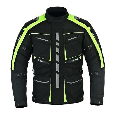 Motorbike Motorcycle jacket CE approved armour waterproof Cordura textile