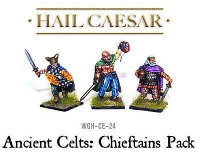 Ancient Celts: Chieftains Pack (3) 28mm metal Warlord Games New!