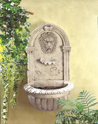 LION HEAD ROMAN INDOOR OUTDOOR GARDEN WALL MOUNT WATER HANGING FOUNTAIN w/ PUMP
