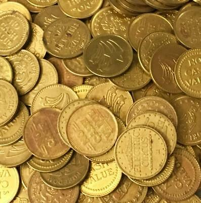 "lot of (1000) 22.4MM .882"" ARCADE TOKENS GAMING TOKENS *BULK LOT"