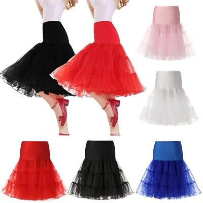 "US 26"" Vintage Crinoline Petticoat Underskirt Fancy Tutu Skirt Slips Mini Dress"