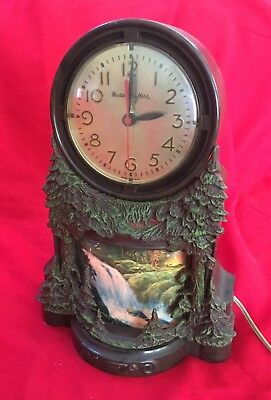 Vintage MasterCrafters MOTION CLOCK, #344 Waterfall. Works great, accurate time