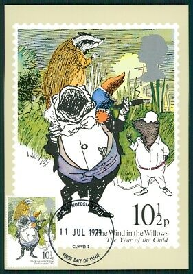 GB UK MK 1979 YEAR OF THE CHILD TALES FROG BADGER RATTE MAXIMUM CARD MC CM ci86