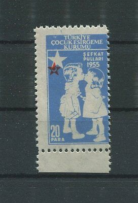 TÜRKEI ABART ROTES KREUZ 1955 ** RED CROSS AID HEALTH ERROR MNH RARE!! d6526