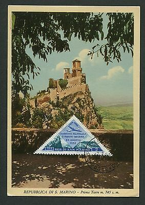 SAN MARINO MK 1952 MONTE TITANO MOUNTAIN BERG MAXIMUMKARTE MAXIMUM CARD MC c8847