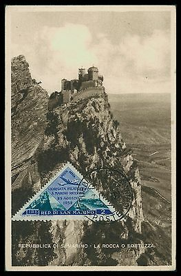 SAN MARINO MK 1952 LA ROCCA MAXIMUMKARTE CARTE MAXIMUM CARD MC CM ca28