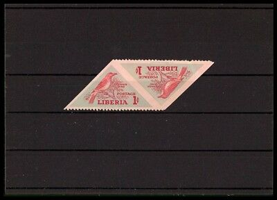 LIBERIA VÖGEL 1953 ABART UNGEZÄHNT ** PEPPER BIRD ERROR IMPERF MNH RARE! bp97